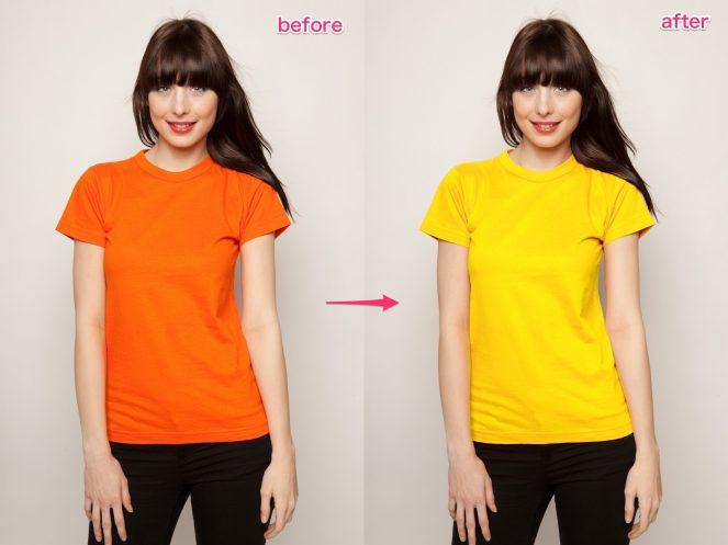 【1ステップ】Photoshopで一部分の色だけ簡単に変更する方法